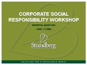 Corporate Social Responsibility Workshop