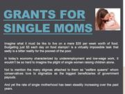 Grants for Single Moms