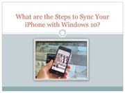 What are the Steps to Sync Your iPhone with Windows 10