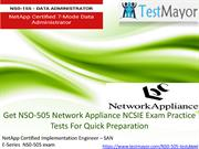 Get NSO-505 Network Appliance NCSIE Exam Practice Tests For Quick Prep
