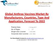 Global Anthrax Vaccines Market By Manufacturers, Countries, Type And A
