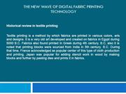 The new wave of Digital Fabric Printing Technology