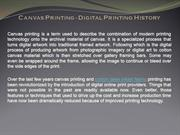 Canvas Printing - Digital Printing History