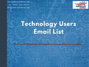 Technology Users Email List