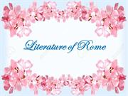 WORLD LITERATURE ( England and Rome)
