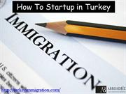 How to Startup in Turkey