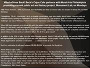 #BecksGives Back! Beck's Cajun Cafe partners with Mural Arts