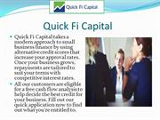 Small Business loans- quick fi capital