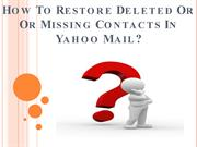 How To Restore Deleted Or Missing Contacts In