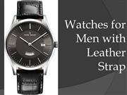 Watches for Men with Leather Strap