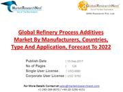 Global Refinery Process Additives Market By Manufacturers, Countries,