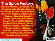 The Spice Factory: Masala Powder, Garam Masala, Chaat Masala...