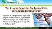 Ayurvedic Home Remedies for Appendicitis  - Top 7 Home Remedies