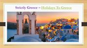 Package Holidays to Greece | Amazing Destination for Holidays