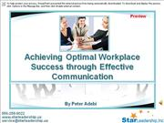 Effective workplace communication Preview