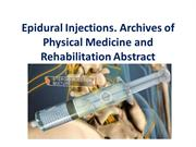 Epidural Injections-Archives of Physical Medicine and Rehabilitation A