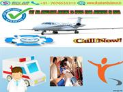 Sky Air Ambulance from Chandigarh & Coimbatore to Delhi at Low fare