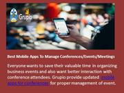 Best Mobile Apps To Manage Conferences or Events
