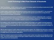 Lectrifi Technology to Meet Power Demands of Households