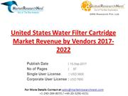 United States Water Filter Cartridge Market Revenue by Vendors 2017-20
