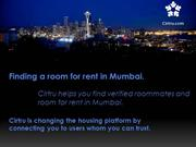 Shared Room for rent in Mumbai
