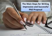 The Main Steps for Writing Impressive and Successful PhD Proposal