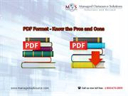 PDF Format - Know the Pros and Cons