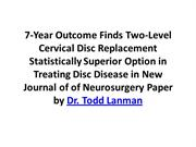 7-Year Outcome Finds Two-Level Cervical Disc Replacement Statistically