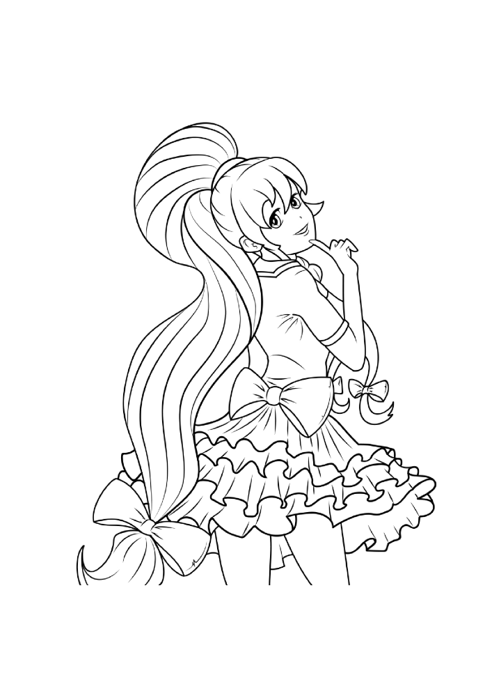 Hot Anime Girls Coloring Pages For Adults – Printable Coloring Boo..  |authorSTREAM