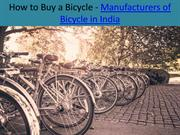 Bicycle Manufacturer In India