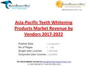 Asia-Pacific Teeth Whitening Products Market Revenue by Vendors 2017-2