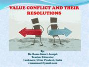 VALUE CONFLICT AND THEIR RESOLUTION