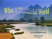 What a wonderful world - Armstrong