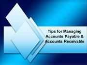 Tips for Managing Accounts Payable & Accounts Receivables