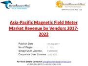 Asia-Pacific Magnetic Field Meter Market Revenue by Vendors 2017-2022