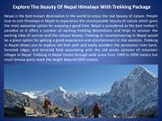 Explore The Beauty Of Nepal Himalaya With Trekking Package