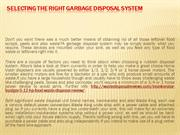 Selecting the Right Garbage Disposal System