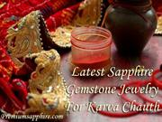 Latest Sapphire Gemstone Jewelry For Karva Chauth