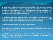 Choosing Sterling Silver Earrings For Your Face Kind