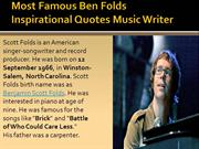 Ben Folds Author , Inspirational Quotes | Music Writer | Quoteperson