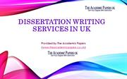 Dissertation Writing Services in UK Provided by The Academic Papers