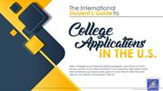 The International Student's Guide to College Applications in the U.S
