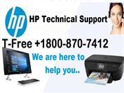 Call +1800 870 7412 HP Printer Computer Laptop Technical Support Toll