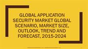 Global Application Security Market Global Scenario, Market