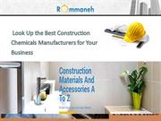 Look Up the Best Construction Chemicals Manufacturers