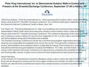 Polar King International, Inc. to Demonstrate Outdoor Walk
