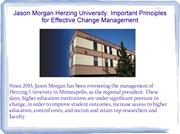 Important principles to heart By Jason Morgan Herzing University