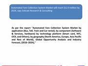 Automated Fare Collection System Market Forecast and Industry Analysis