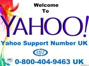Yahoo Technical Support Number UK 0-800-404-9463 Solve Technical Issue