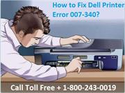 How to Fix Dell Printer Error 007-340? 1-800-243-0019 for Help